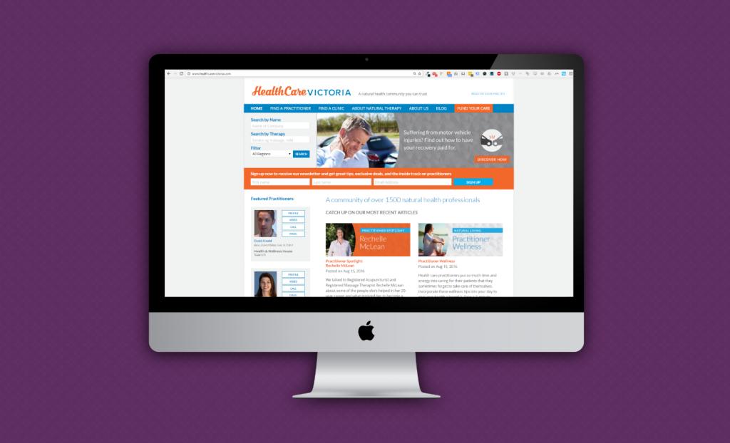 HealthCare Victoria Website